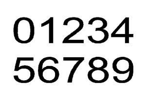 Individual number vinyl sticker waterproof decal DISCOUNTED MULTIPLES