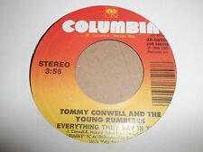 """TOMMY CONWELL & THE YOUNG RUMBLERS """" IF WE NEVER MEET AGAIN """" 7"""" SINGLE 1989"""