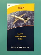 US AIRWAYS SAFETY CARD--757