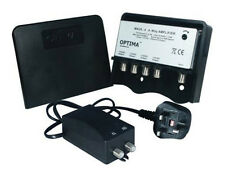 Optima MA20-4KIT 4 Way Masthead Amplifier (TV Signal Booster) and Power Supply