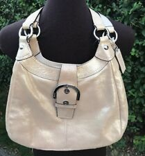 Coach Soho Leather Gold Hobo Satchel Handbag Shoulder Bag F17219 EUC Champagne
