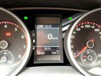 Tacho Sticker Zubehör für Golf 6 MK VI Kombiinstrument Schwarz Glanz Aufkleber