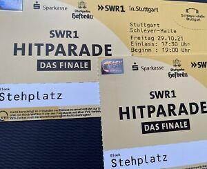 2x Stehplatz SWR1 Hitparade 29.10.2021