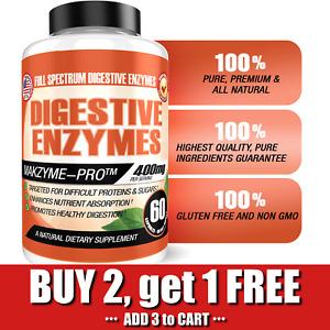 Digestive Enzymes w/ Prebiotic & Probiotics, Gas, Constipation, Bloating Relief