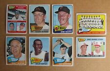 1965 TOPPS BASEBALL SINGLES COMPLETE YOUR PICK CHOOSE CARDS UPDATED 7/23