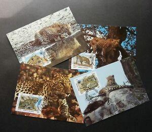 Afghanistan WWF Leopard 1985 Big Cat Cheetah Wildlife (maxicard)