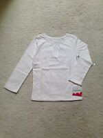 New White Long-Sleeve Silver Sparkle T-Shirt Girls/Toddler(2T,3T,4T,4,5,6,6x,7)