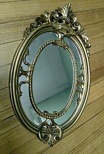 Vintage Gold Gilt/Baklite Italianate Style wall mirror c. 1960
