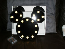 Disney Black Metal Mickey Mouse LED Light Battery Operated