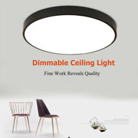 LED Panel Light Ultra-thin Dimmable Surface Ceiling Downlight Round Ceiling Lamp
