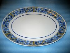 Mikasa Eclipse Blue Mode Oval Platter 14 Inches 5793 Made in Japan.