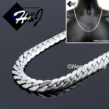 "24""MEN's Stainless Steel 3mm Silver Miami Cuban Curb Link Chain Necklace*N155"