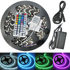 5050 LED Strip RGB Black PCB Waterproof 44Key  Remote Controller 12V 5A Adapter