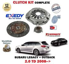 FOR SUBARU LEGACY + OUTBACK 2.0DT DIESEL 2008--> NEW 3 PIECE CLUTCH KIT COMPLETE