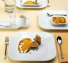KAHLA Serie CUMULUS 6 x Frühstücksteller 22 x 22cm Kuchenteller Teller eckig NEU