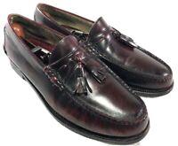 Johnston & Murphy Aristocraft Burgundy Moc Toe Tassel Loafers Shoes Sz 9.5C USA