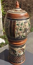 "GINORMOUS 27"" Tlaquepaque Petatillo Vase Planter Water Dispenser Mexican Pottery"