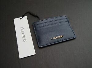 CALVIN KLEIN Women's Saffiano Leather Card Case Holder NEW NWT $38
