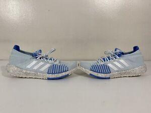 NWOB Adidas Women's PulseBOOST HD W Blue Silver Gray Shoes Running 10.5 (EF1358)