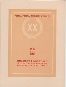 Poland-1938 Special presentation folder for the 20th Anniversary of Independence