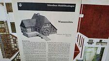 JFS Paper Model Wassermuhle Water Wheel