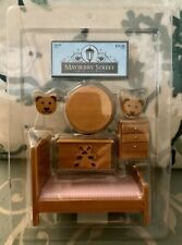 Dollhouse Mayberry Street Miniatures Childs Bear Bed Toy Box Table Chairs Wood