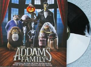 The Addams Family Soundtrack Score Mychael & Jeff Danna Vinyl LP BLK/WHT Record
