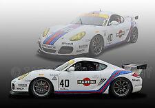 2011 Porsche Cayman Martini Vintage Classic GT Race Car Photo (CA-0891)