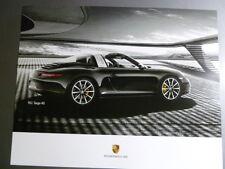 2015 Porsche 911 Targa 4S Showroom Advertising Sales Poster RARE!! Awesome L@@K