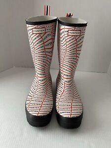 Hunter Original Play Tall Sonic Logo Women's US 11 UK 9 Rubber Rain Boots NWOB