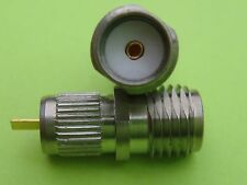 2X Unusual Push-Fit To Chassis Stripline SMA Sockets Microwave 23Cms 1296MHz