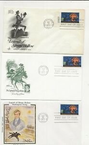 United States Comm/FDC - 3 x Legend of Sleepy Hollow - 1974 (106)