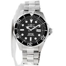 Invicta 12562 Men's Grand Diver Black Carbon Fiber Dial Black Bezel Dive Watch