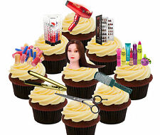 Hairdresser, 36 Edible Cup Cake Toppers, Fairy Decorations Birthday Hairdressing