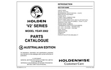 Holden V2 Monaro & HSV Parts Catalogue Info Sheets Vehicle Options & Data