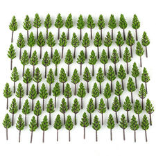 100pcs/Pack Model Pine Trees Deep Green For N Z Scale Street Layout 38mm New