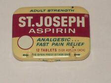 Vintage-ST JOSEPH-Aspirin-Tablets-Advertising-Litho-Health-Medicine-Drug-Tin
