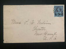 1890 British Post Office Turkey Vintage cover To Chester NH USA
