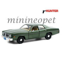 GREENLIGHT 84123 HUNTER 1977 DODGE MONACO 1/24 DIECAST MODEL CAR GREEN