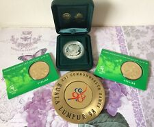 Australia 2000 Olympic Coins Cycling & 1998 Commonwealth Game Memorabilia
