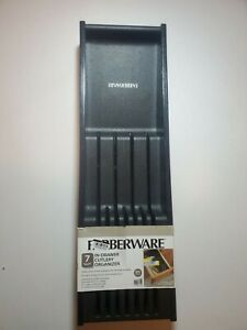 Farberware 7 slot knife cutlery in-drawer organizer protects blade NEW