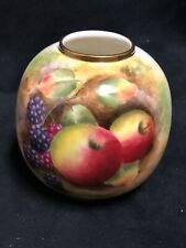 Small Royal Worcester England Fine Porcelain vase  hand painted with fruit