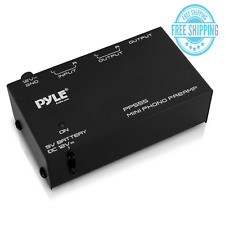 Pyle Phono Turntable Preamp - Mini Electronic Audio Stereo Phonograph Preamplifi