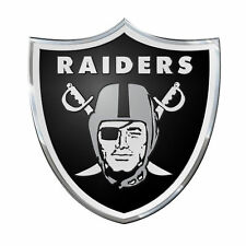 Oakland Raiders Color Emblem Sticker Decal Aluminum Metal Car Truck Auto