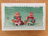 NEW Longaberger Pottery Cookie Mold Roger & Ginger Christmas of 2000 Gingerbread