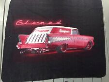 """Snap On Tools Collectable GLO-MAD Fleece Blanket Throw VERY  RARE 59""""X 50"""" LIMIT"""
