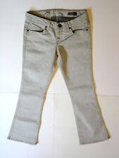 VOLCOM [Size 3 W26] Junior's Grey Flare Shortie Fit Quality Denim Jeans NWT!