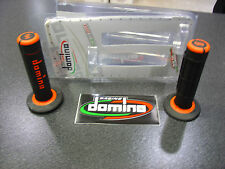 COPPIA MANOPOLE OFF-ROAD DOMINO  NERO/ARANCIO
