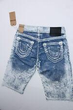 $368 True Religion Men Blue Denim  Cut Off Ricky Super T Shorts 44 MECC126oA7