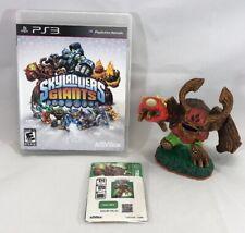 Skylanders Giants PS3 Playstation Game Disc in Case & Tree Rex Figure w/ Card